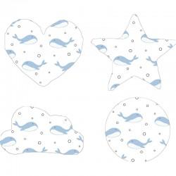 Cojín formas Whales